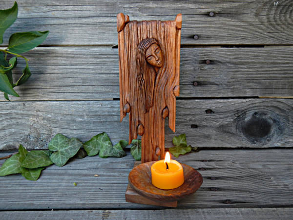 """WOMAN IN THE WATERFALL"" candle holder"